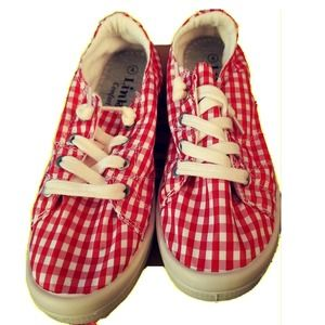 Link by Forever Link Red White Girls Shoes Size 4